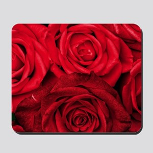 Red Roses Floral Mousepad