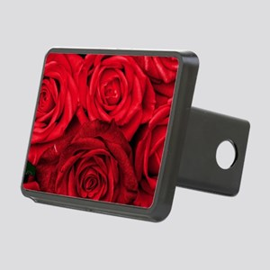 Red Roses Floral Rectangular Hitch Cover