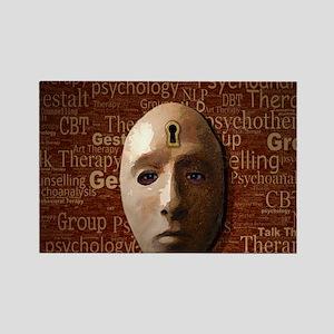 Psychology Mask Rectangle Magnet