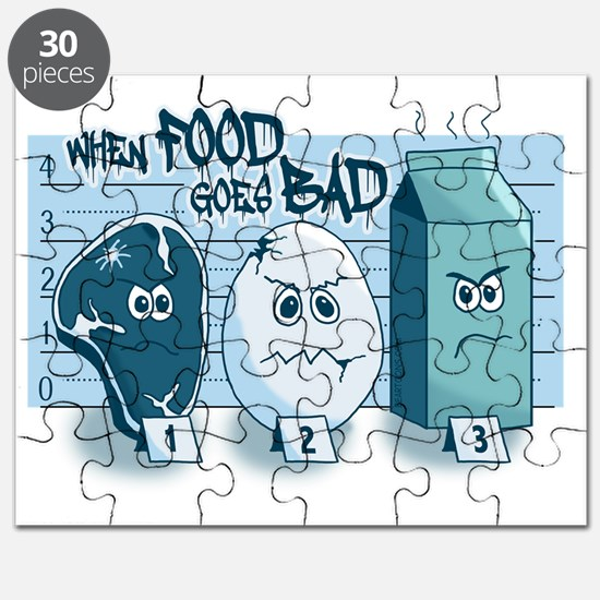 When Food Goes Bad Police Lineup Puzzle
