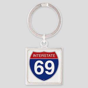 Interstate 69 Square Keychain