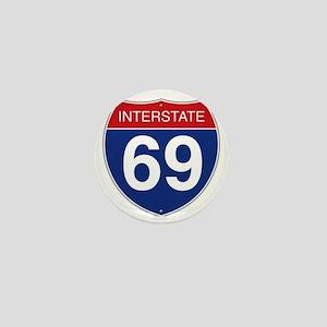 Interstate 69 Mini Button