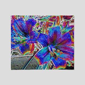 Amaryllis Lilies  Throw Blanket