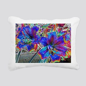 Amaryllis Lilies  Rectangular Canvas Pillow