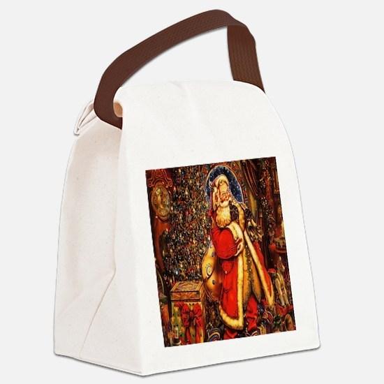 Victorian Santa Canvas Lunch Bag