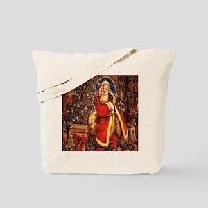 Victorian Santa Tote Bag
