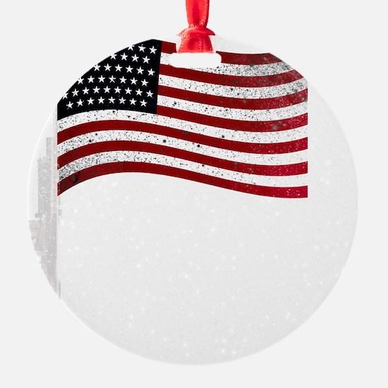 Gun Flag White Ornament