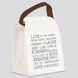 Positive Thoughts Canvas Lunch Bag