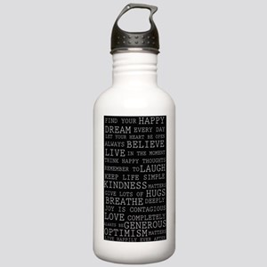 Positive Thoughts Stainless Water Bottle 1.0L