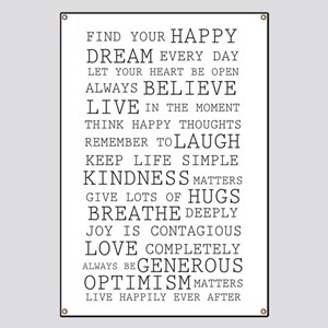 Positive Thoughts Banner