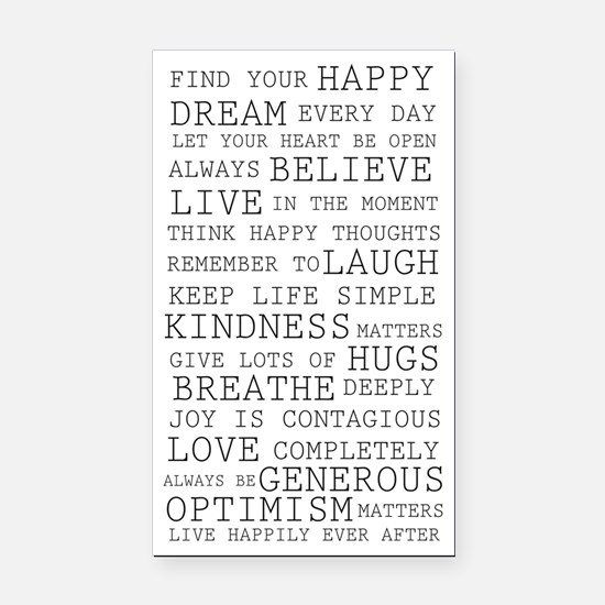 Positive Thoughts Rectangle Car Magnet
