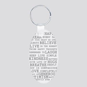 Positive Thoughts Aluminum Oval Keychain