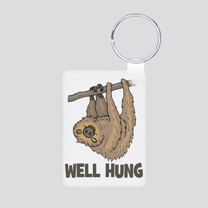The Well Hung Sloth Aluminum Photo Keychain