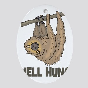 The Well Hung Sloth Oval Ornament