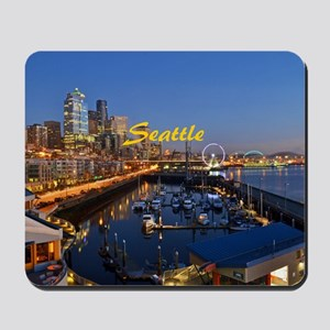 seattle_8.56x7.91_gel_seattlewaterfront Mousepad
