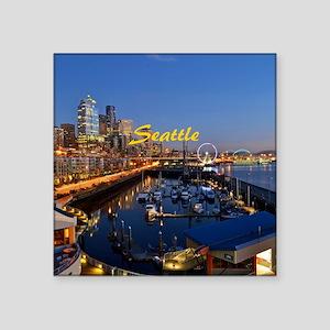 "Seattle_8.56x7.91_GelMousep Square Sticker 3"" x 3"""