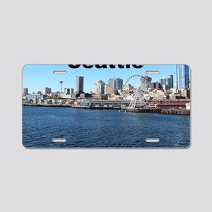 Seattle_6x6_SeattleWaterfro Aluminum License Plate