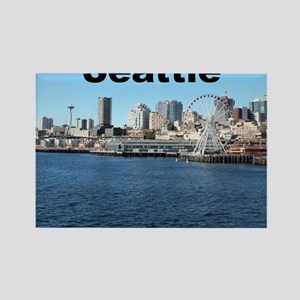 Seattle_6x6_SeattleWaterfront_v1 Rectangle Magnet