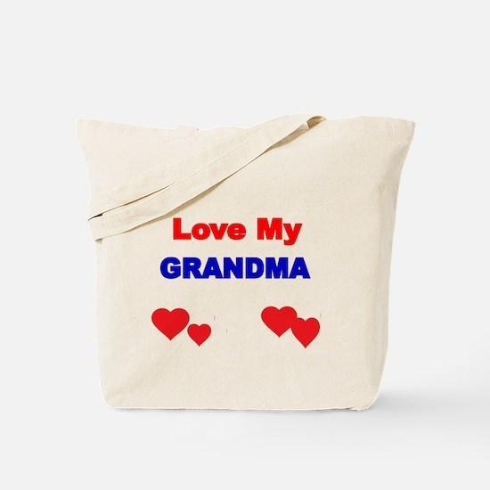 LOVE MY GRANDMA 4 Tote Bag