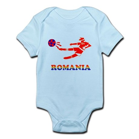 Romania Soccer Player Infant Bodysuit