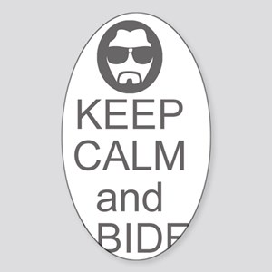 Keep Calm and Abide Sticker (Oval)