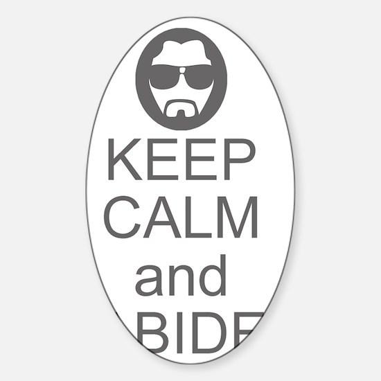 Keep Calm and Abide Sticker (Oval)
