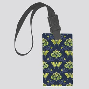 ButterflyAsian_Blue_Large Large Luggage Tag