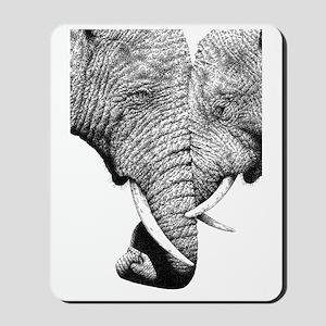 African Elephants 5x7 Rug Mousepad