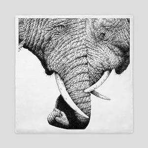 African Elephants 60 inch Curtains Queen Duvet