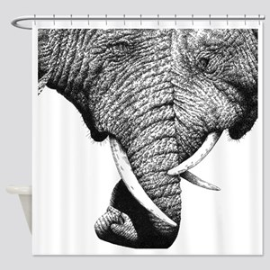 African Elephants 60 inch Curtains Shower Curtain