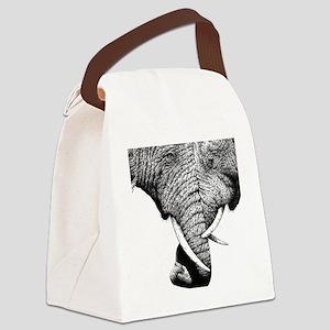 African Elephants 60 inch Curtain Canvas Lunch Bag