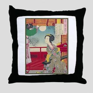 Japanese illustration  Throw Pillow