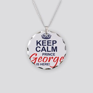 Prince George is Here Necklace Circle Charm