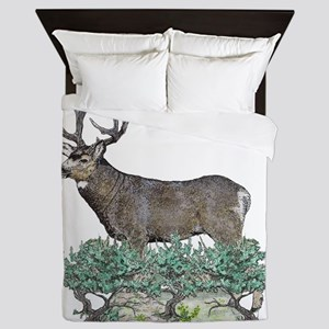 Buck watercolor Queen Duvet