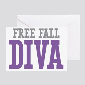 Free Fall DIVA Greeting Card