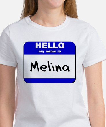 hello my name is melina Women's T-Shirt