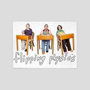 Flipping Physics 5'x7'Area Rug
