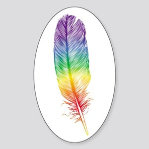 Family Feather Oval Sticker