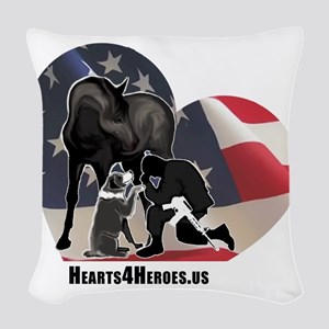 Hearts4Heroes Woven Throw Pillow