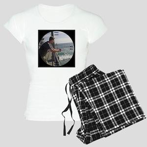 clock 2h2jtymp man on pier Women's Light Pajamas
