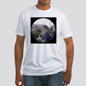 clock 2h2jtymp hollywood sign Fitted T-Shirt