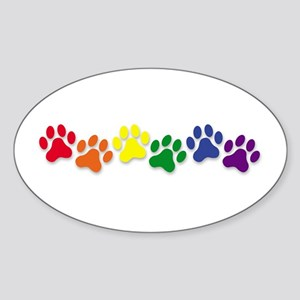 Family Pet Oval Sticker