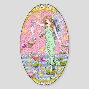 Sea Fairy Maiden Sticker (Oval)