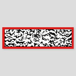 Explosive Tag Bumper Sticker