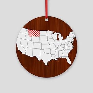 Montana Round Ornament
