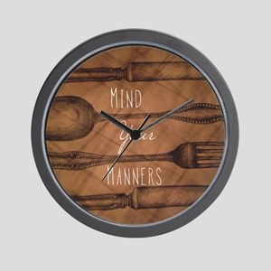 Mind Your Manners Wall Clock
