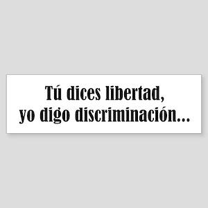 discriminacion Bumper Sticker