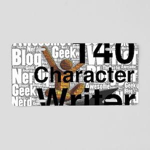 140 Character Writer WHITE Aluminum License Plate