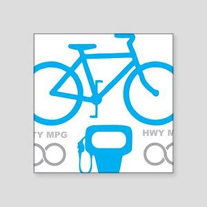 "Biking MPG Square Sticker 3"" x 3"""