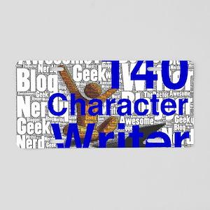 140 Character Writer Aluminum License Plate